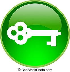 grön, säkra, knapp