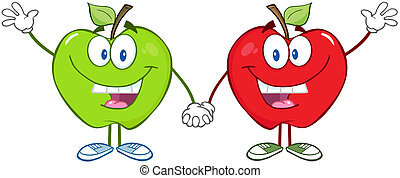 gröna äpplen, röd