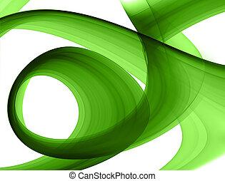 gröna abstrakta, formande