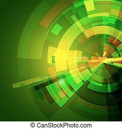 gröna abstrakta, komplex, stjärna