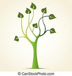 gröna abstrakta, träd