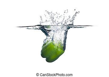 grönpeppar, plaska