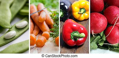 grönsak, bild, kollektion