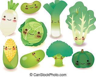 grönsak, frukt, kollektion