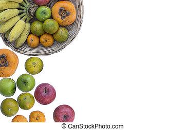 grönsak, frukt