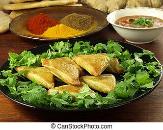grönsak, samosas