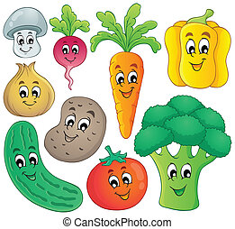 grönsak, tema, 4, kollektion
