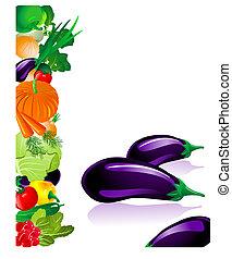 grönsaken, aubergine