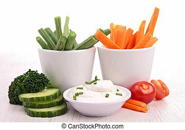 grönsaken,  dip