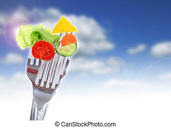 grönsaken, forks.