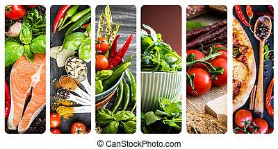 grönsaken, Kryddor, korv,  pizza
