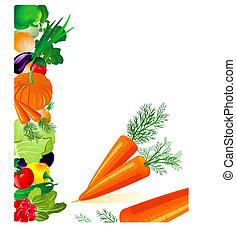 grönsaken, moroten