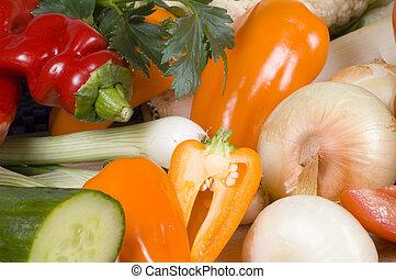 grönsaken, närbild