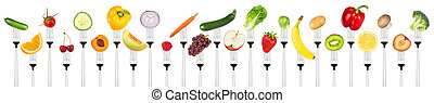 grönsaken, sätta, smaklig, Vägskäl, frukter