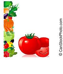 grönsaken, tomat