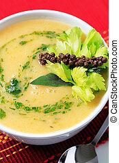 grönsakssoppa, pureed