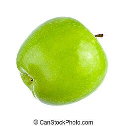 grönt äpple, mogen