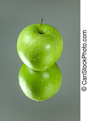 grönt äpple, reflexion