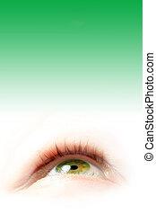 grönt öga