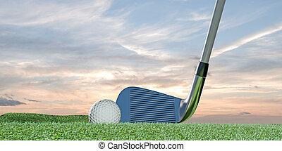 grönt kula, golf