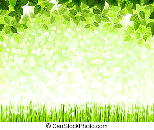 grönt lämnar