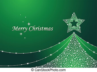 grönt träd, jul