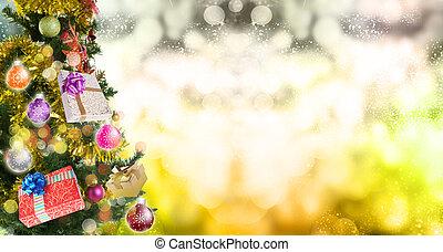 grönt träd, julafton