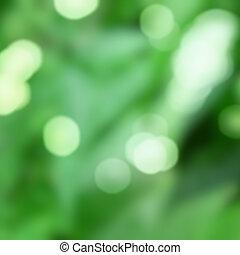 grøn baggrund, hos, naturlig, bokeh