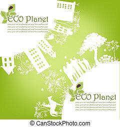 grønne, økologiske, planet