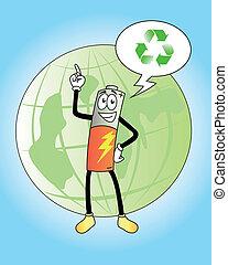 grønne, batteri