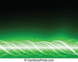 grønne, glødende, linjer, farverig, baggrund.