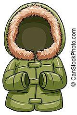 grønne, krop, varm