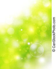 grønne, naturlig, baggrund, sommer