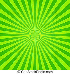 grønne, og, gul, sunburst
