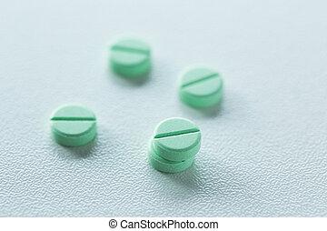 grønne, pillerne