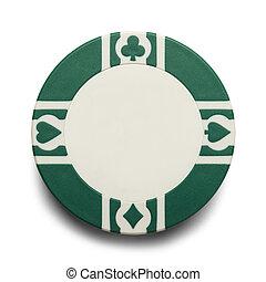 grønne, poker skærv