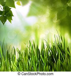 grønne, verden, abstrakt, miljøbestemte, baggrunde, by, din, konstruktion