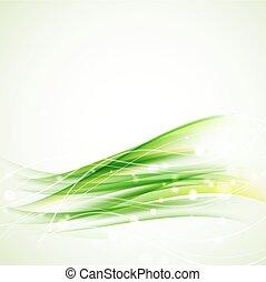 grønnes abstrakte, bølgede, baggrund, hos, gnistre
