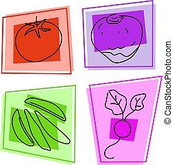 grønsag, iconerne