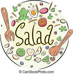 grønsag, salat
