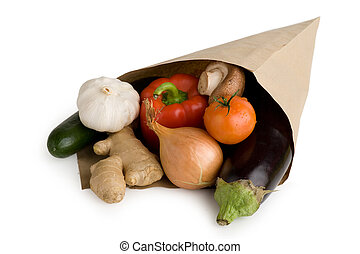 grønsager, samling, gruppe