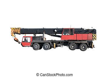 grúa, camión, hidráulico