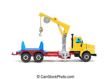 grúa, camión, juguete