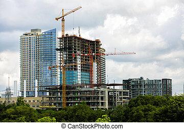 grúas, construcción