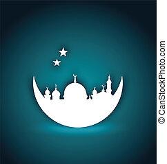 grüßen karte, für, ramadan, kareem