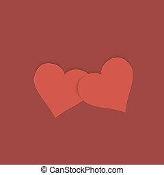 grüßen karte, mit, herz, für, valentines, day.