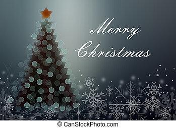grüßen karte, mit, weihnachten
