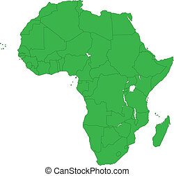 grün, afrikas, landkarte