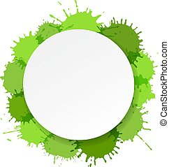 grün, banner, flecke