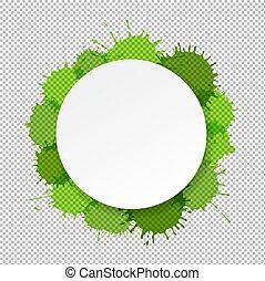 grün, banner, flecke, hintergrund, durchsichtig